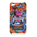 Ed Hardy Design Color Back Case for Apple iPhone 4th / 4G - Dog