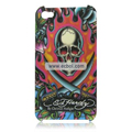 Ed Hardy Design Color Back Case for Apple iPhone 4th / 4G - Skull