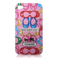 High Quality Coach Pattern Color Back Case for Apple iPhone 4th / 4G - 1