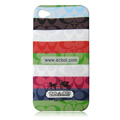 High Quality Coach Pattern Color Back Case for Apple iPhone 4th / 4G - 10