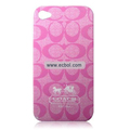 High Quality Coach Pattern Color Back Case for Apple iPhone 4th / 4G - 3