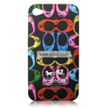High Quality Coach Pattern Color Back Case for Apple iPhone 4th / 4G - 4