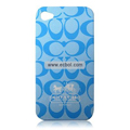 High Quality Coach Pattern Color Back Case for Apple iPhone 4th / 4G - 5