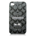 High Quality Coach Pattern Color Back Case for Apple iPhone 4th / 4G - 7