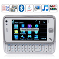 N930 Quad Band Dual Cards Dual Cameras Bluetooth Java 3.2 - inch Touch Screen China Phone - White