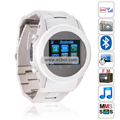 MQ266 Quad Band Single Card Bluetooth Camera Touch Screen Watch China Phone - Silver