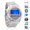 MQ666 Quad Band Single Card Bluetooth Camera Touch Screen Watch China Phone - Silver