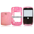 Transparent Compatible Front And Back Housing With Keypad For Blackberry 8520 Mobile Phone - Pink