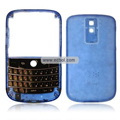 Transparent Compatible Front And Back Housing With Keypad For Blackberry 9000 Mobile Phone - Blue