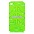 Fishbone Net Pattern Plastic Back Case for Apple iPhone 4th / 4G - Green
