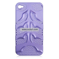 Fishbone Net Pattern Plastic Back Case for Apple iPhone 4th / 4G - Purple