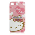 Hello Kitty Pattern Plastic Back Case for Apple iPhone 4th / 4G-1