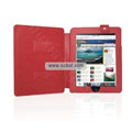 Protective Leather Case with Stand Mount Holder for Apple iPad - Red