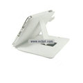 Protective Leather Case with Stand Mount Holder for Apple iPad - White