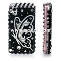 100% Brand New Clear Butterfly Bling Hard Plastic Case For Samsung S5230