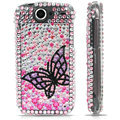 100% Brand New Black Butterfly Crystal Bling Hard Plastic Case For HTC Nexus One