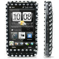 100% Brand New Clear Flower  Rhinestone Crystal Bling Hard Plastic Case For HTC HD2