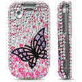 100% Brand New Black Butterfly 3D Crystal Bling Hard Plastic Case For HTC TATTOO G4