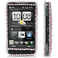 100% Brand New Black Butterfly Rhinestone Crystal Bling Hard Plastic Case For HTC HD2