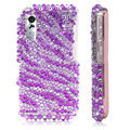 100% Brand New Purple Stripe Bling Hard Plastic Case For Samsung S5230