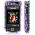 100% Brand New Purple Zebra 3D Crystal Bling Hard Plastic Case For Samsung S8000