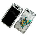 100% Brand New Color Butterfly Crystal Bling Rhinestone Diamond Case Skin Cover For iPhone 4 4G