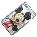 Brand New Crystal Cute Mickey Mouse Bling Rhinestone Diamond Case Skin Cover For iPhone 4 4G