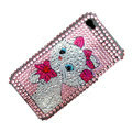 100% Brand New Crystal Marie Bling Rhinestone Diamond Case Skin Cover For iPhone 4 4G