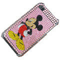 100% Brand New Crystal Mickey Mouse Bling Rhinestone Diamond Case Skin Cover For iPhone 4 4G