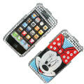 100% Brand New Crystal Minne Mouse Bling Rhinestone Diamond Case Skin Cover For iPhone 4 4G
