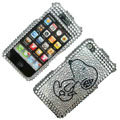 100% Brand New Crystal Snoopy Bling Rhinestone Diamond Case Skin Cover For iPhone 4 4G