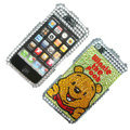 100% Brand New Crystal Winne The Pooh Bling Rhinestone Diamond Case Skin Cover For iPhone 4 4G