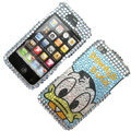 100% Brand New Donald Duck Crystal Bling Rhinestone Diamond Case Skin Cover For iPhone 4 4G