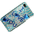 100% Brand New ILU Crystal Bling Rhinestone Diamond Case Skin Cover For iPhone 4 4G
