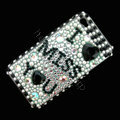 100% Brand New IMU Crystal Bling Rhinestone Diamond Case Skin Cover For iPhone 4 4G