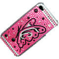 100% Brand New Pink Crystal Bling Rhinestone Diamond Case Skin Cover For iPhone 4 4G