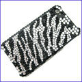 100% Brand New Stripe Crystal Bling Rhinestone Diamond Case Skin Cover For iPhone 4 4G