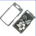Clear Flower Crystal Bling Rhinestone Diamond Case Skin Cover For iPhone 4 4G