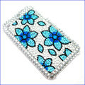 Brand New Blue Flower Crystal Diamond Rhinestone Cover Case for Apple iPhone 3G 3GS