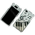 100% Brand New Music Crystal Bling Rhinestone Diamond Case Skin Cover For iPhone 4 4G