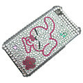 100% Brand New Pink Rabbit Crystal Bling Rhinestone Diamond Case Skin Cover For iPhone 4 4G