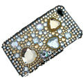 Luxurious Crystal Bling Rhinestone Diamond Hard Case Skin Cover For iPhone 4 4G