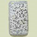 Brand New Bling Pearl Crystal Diamond Rhinestone Plastic Case For Apple iphone 3G 3Gs