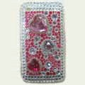 Brand New Clear Bling Diamond Rhinestone Plastic Hard Cover Case For Apple iphone 3G 3Gs