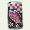 100% Brand New Crystal Butterfly Diamond Rhinestone Bling Plastic Case For Apple iphone 3G 3Gs