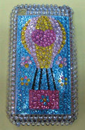 Brand New Hot Air Balloon Rose Bling Crystal Diamond Plastic Hard Case For Apple iphone 3G 3Gs