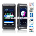N8 Quad Band Dual Cards Dual Cameras Bluetooth 3.2 Inch Touch Screen China Phone-Black
