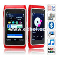 N8 Quad Band Dual Cards Dual Cameras Bluetooth 3.2 Inch Touch Screen China Phone-Red