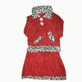 High Children Christmas Clothing Non-woven Three-piece