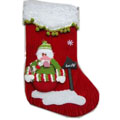 High end Christmas socks Flocking Stereo for the elderly Snowman 48*22cm